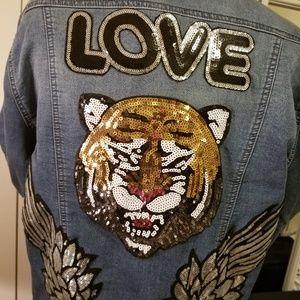 Ladies Embellished Denim Jacket